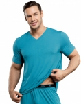 Male Power Lounge Shirt Teal