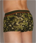 2xist Camo No Show Trunk Military