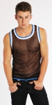 Timoteo Mesh Tank Top Black