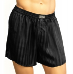 Mansilk Stripe Jacquard Boxer Black