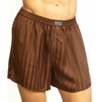 Mansilk Stripe Jacquard Boxer Dark Brown