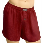 Mansilk Silk Paisley Jacquard Boxer Regal Red