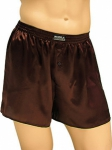 Mansilk Satin Boxer Monk's Brown