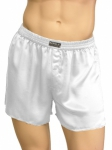 Mansilk Satin Boxer White