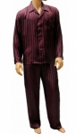 Mansilk Silk Stripe Jacquard Pajama Set Port of Entry
