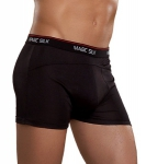 Magic Silk Branded Silk Knit Boxer Brief Black