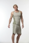 N2N Bodywear Trainer Long Short + Tank Olive green