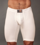 Cocksox Activewear Long Leg Boxer White