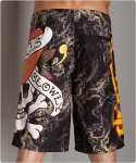 Ed Hardy Smoking Love Board Shorts Black